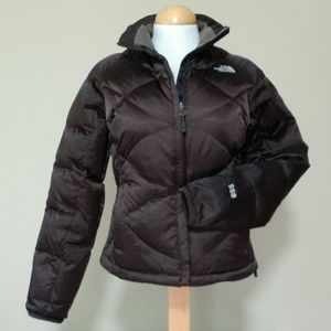 North Face 550 Brown Quilted Zip Coat
